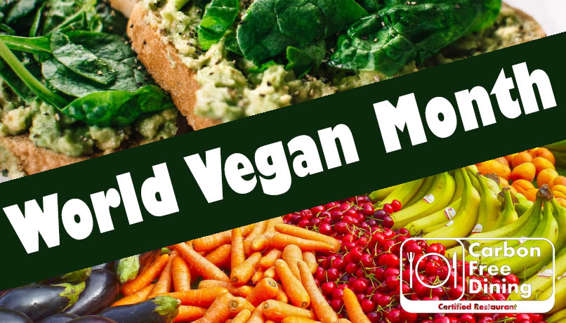 Carbon Free Dining Hospitality Influencers - World Vegan Month
